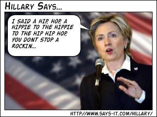 Hillary says…